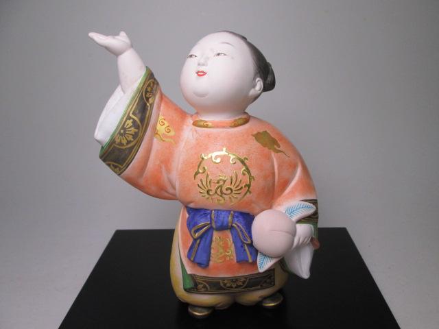 ☆博多人形師 中村信喬作 「桃童子」 共箱 天平衣装人形_画像8