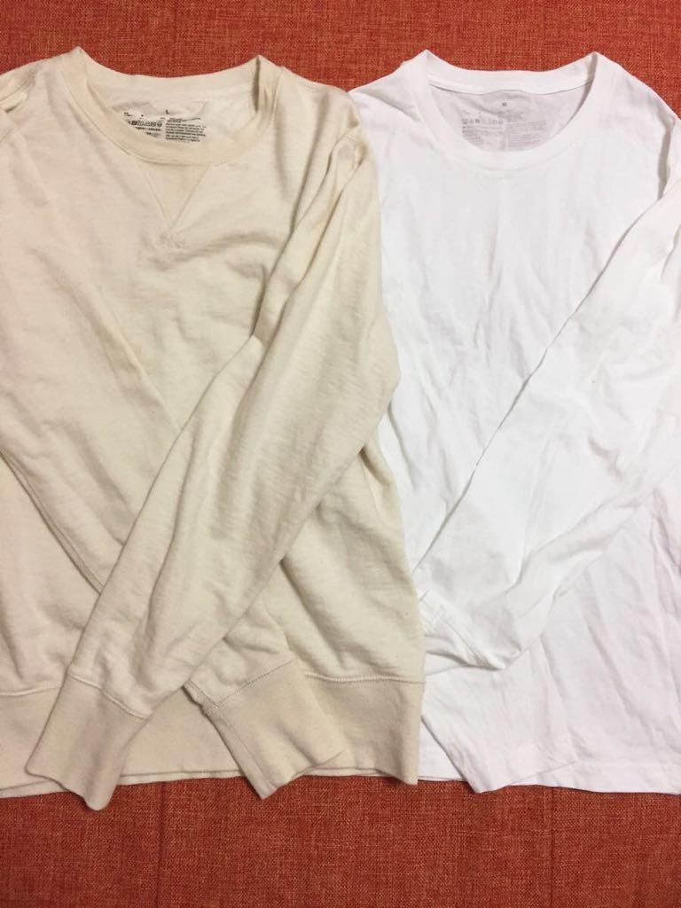 Mサイズ Lサイズ☆セット 無印良品 メンズ スウェット トレーナー シャツ 綿 コットン オフホワイト