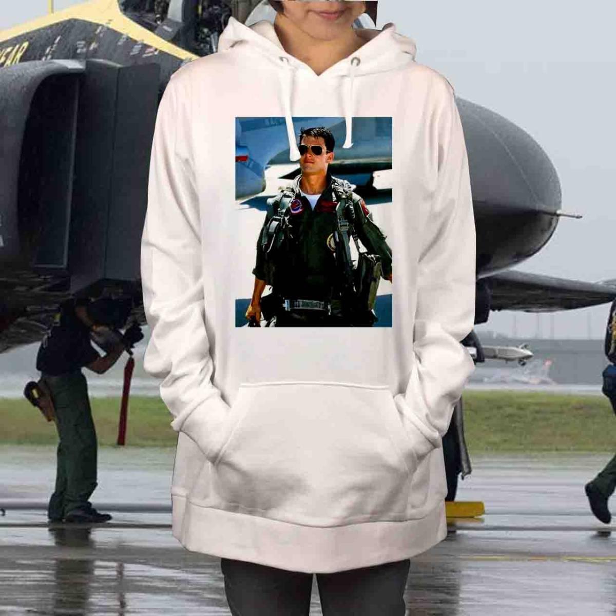 新品 トップガン マーヴェリック トムクルーズ US AIR FORCE 空軍 パーカー XS S M L XL ビッグ オーバーサイズ XXL 黒 Tシャツ ロンT 対応_画像1