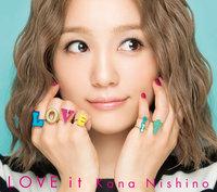 送料無料 切手可 新品同様 未使用 未再生 LOVE it (初回限定盤 CD+DVD)  西野カナ カレンダー 01