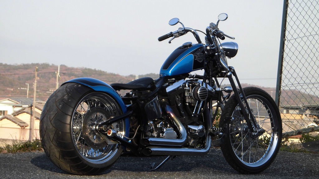 Harley 300 wide custom EVO Springer official recognition