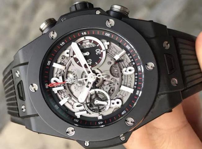 ウブロ ビッグバン ウニコ ブラックマジック グレースケルトン 411.CI.1170.RX メンズ 腕時計