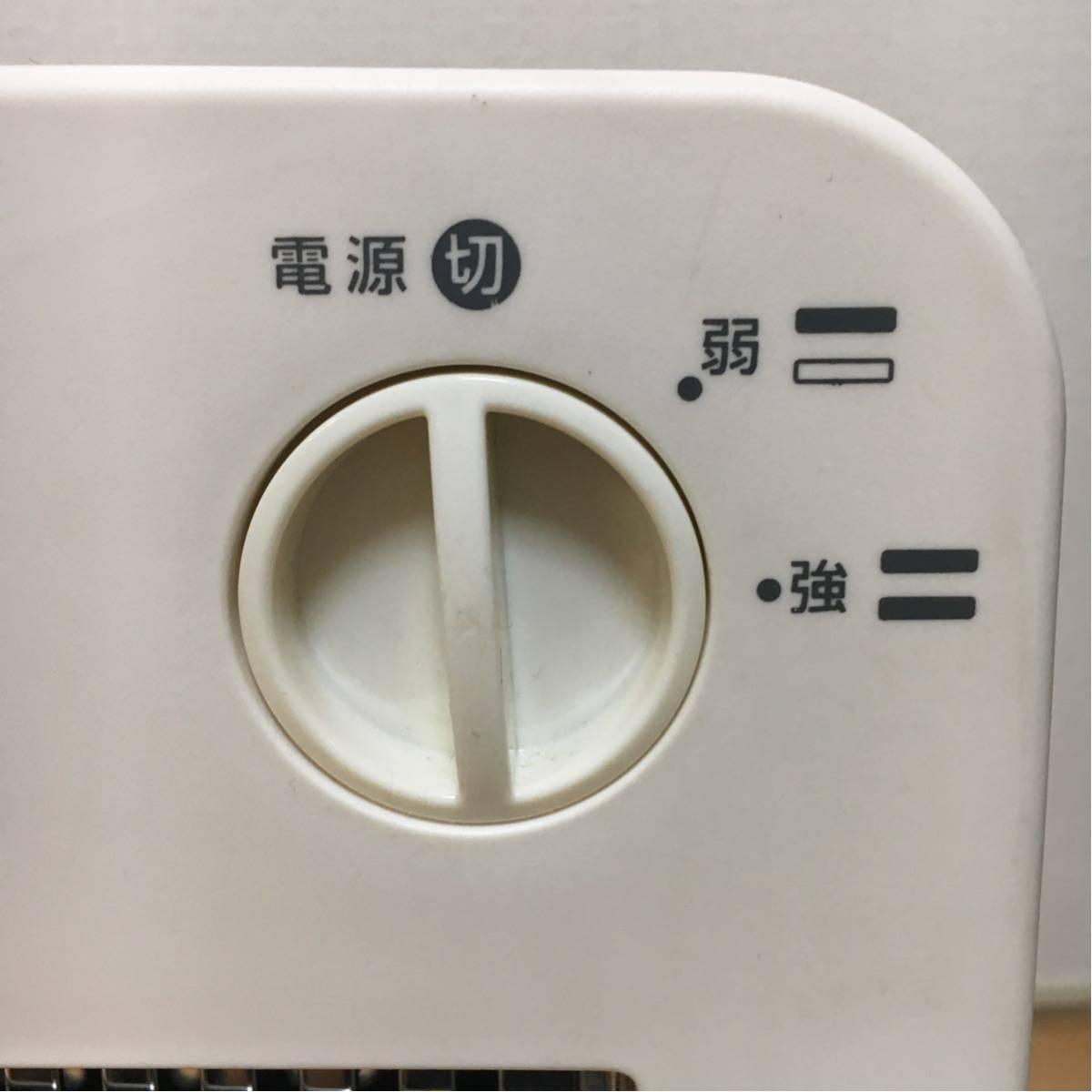 【美品】電気ストーブ ヒーター TEKNOS 800W 暖房器具 動作確認済み 転倒OFFスイッチ_画像4