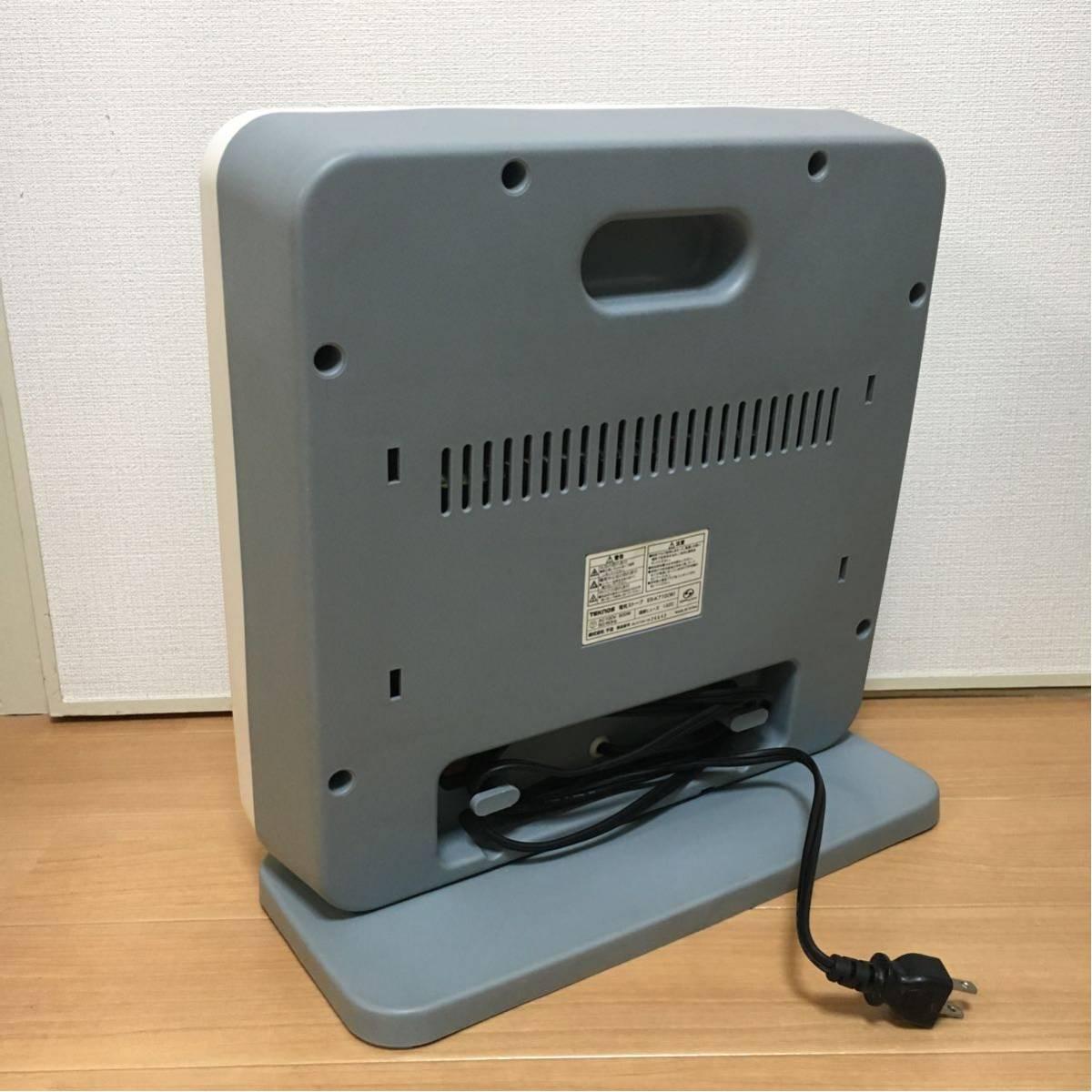 【美品】電気ストーブ ヒーター TEKNOS 800W 暖房器具 動作確認済み 転倒OFFスイッチ_画像2