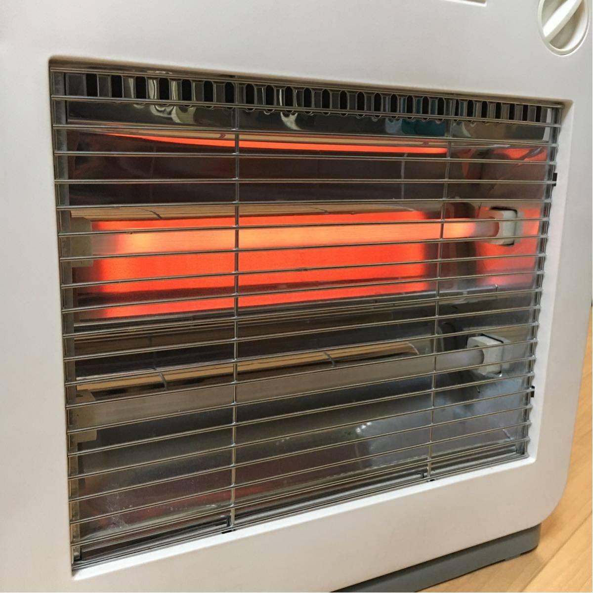 【美品】電気ストーブ ヒーター TEKNOS 800W 暖房器具 動作確認済み 転倒OFFスイッチ_画像6