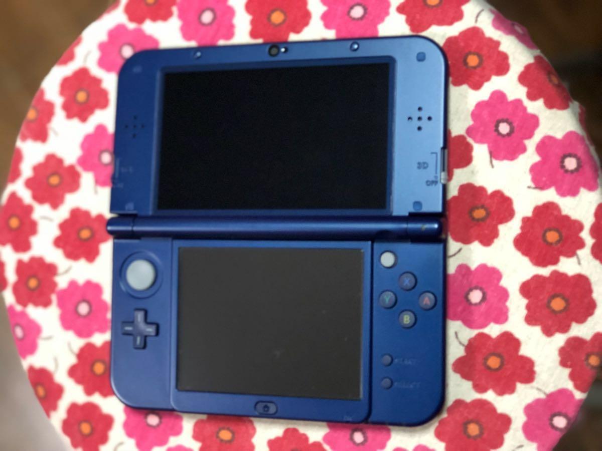 【美品】new 任天堂 3DS LL メタリックブルー 本体_画像3
