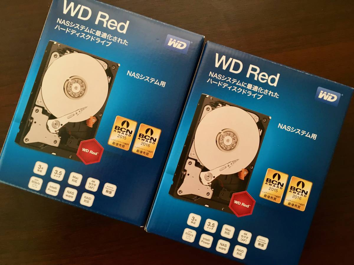 WD Red NAS用 WD40EFRX-RT2 4TB 2本セット
