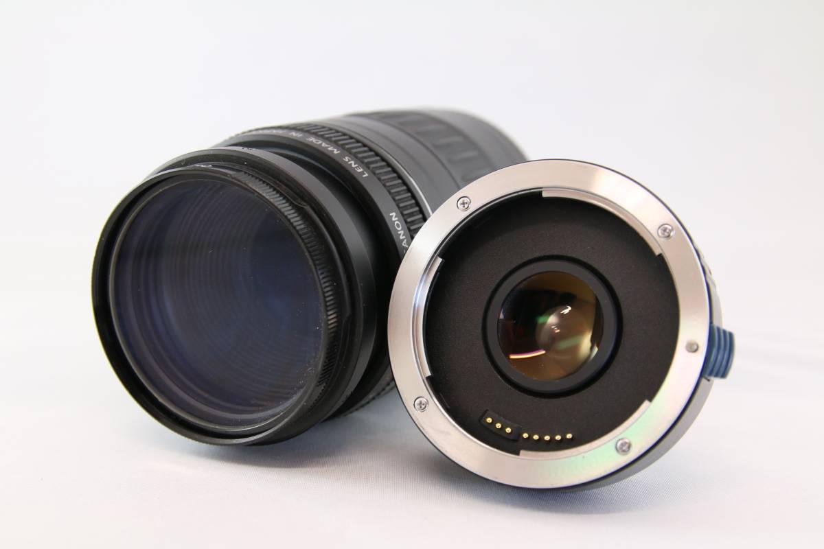 Canon キャノン EF 90-300mm f4.5-5.6 USM レンズ KENKO TELEPLUS テレプラス C-AF 1.5X SHQ