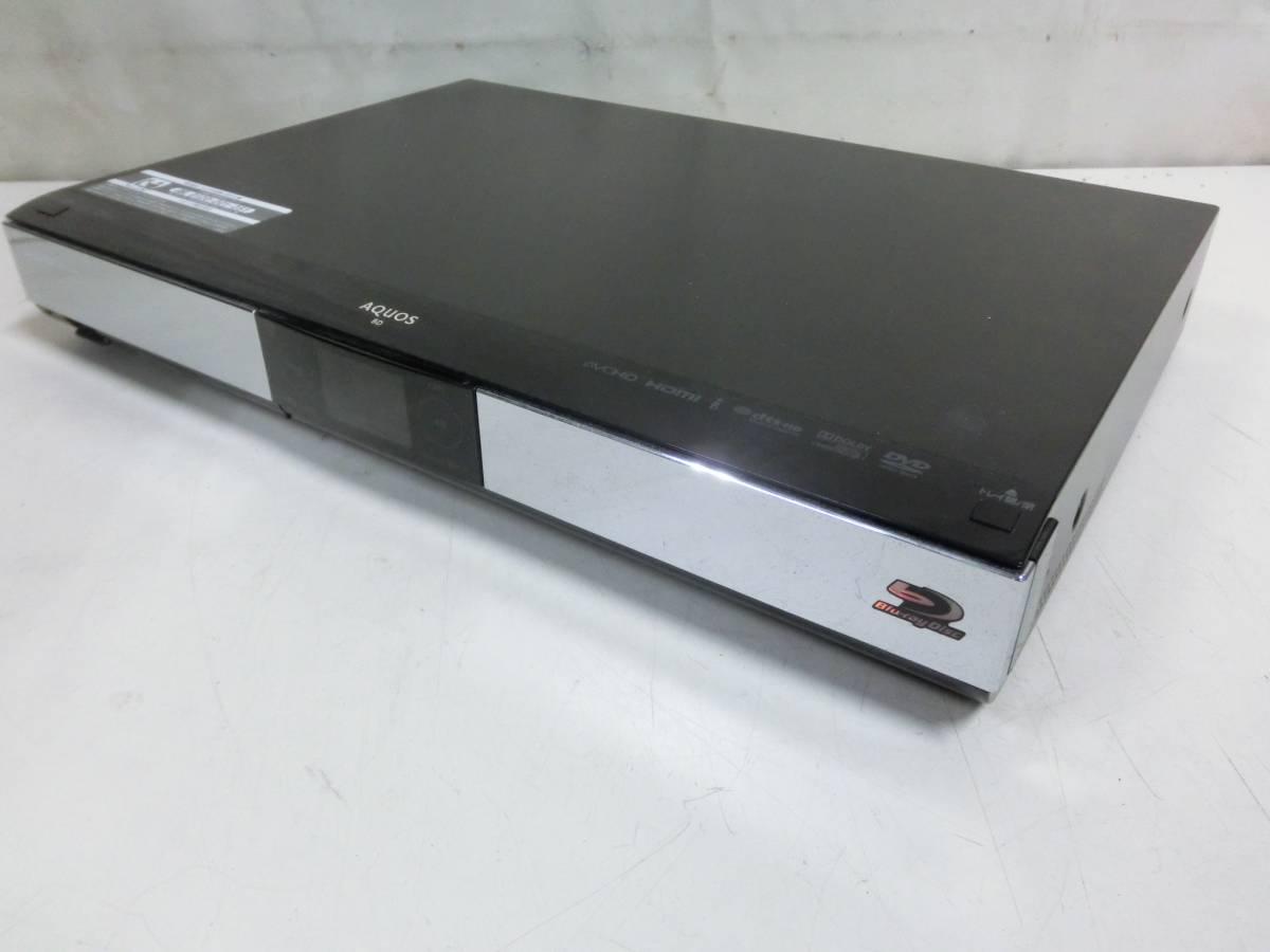 SHARP AQUOS BD/HDD ブルーレイレコーダー BD-HDW55 500GB 2010年製 通電OK N2080_画像4