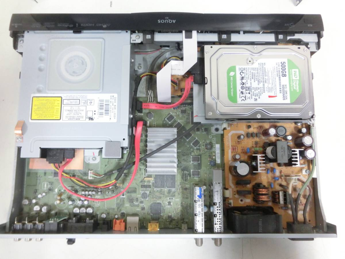 SHARP AQUOS BD/HDD ブルーレイレコーダー BD-HDW55 500GB 2010年製 通電OK N2080_画像8
