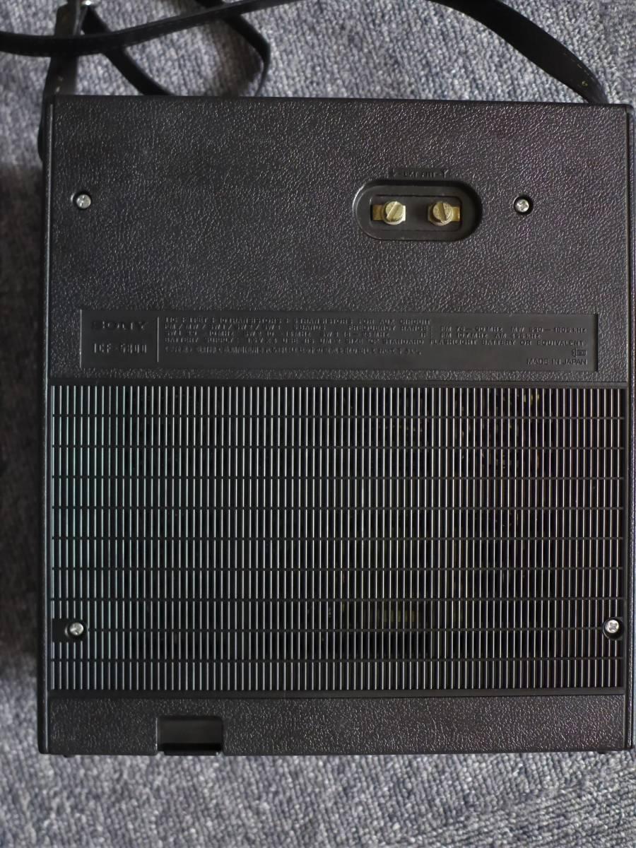 SONY ソニー Skysensor スカイセンサー5800 ICF-5800 BCLラジオ ケース付き 動作品 程度良_画像5