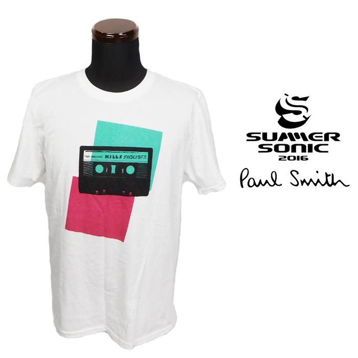【1円SALE最落なし】SUMMER SONIC 2016 × Paul Smith サマーソニック ポールスミス 2Daysチケット限定Tシャツ ホワイト