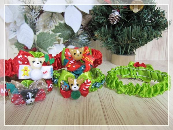 ★送料無料★ Sサイズ *ワンちゃん*クリスマスシュシュネックレス【スリムタイプ】5本セット #犬 #トリミング #ネックレス S1_画像3
