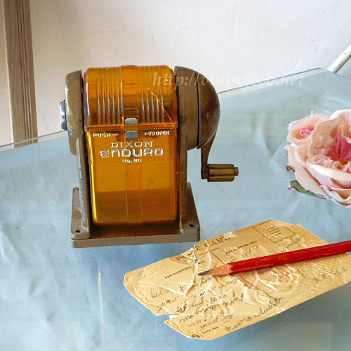 V.Co, アンティーク アメリカ DIXON社 ペンシル シャープナー 鉛筆削り器 オレンジ