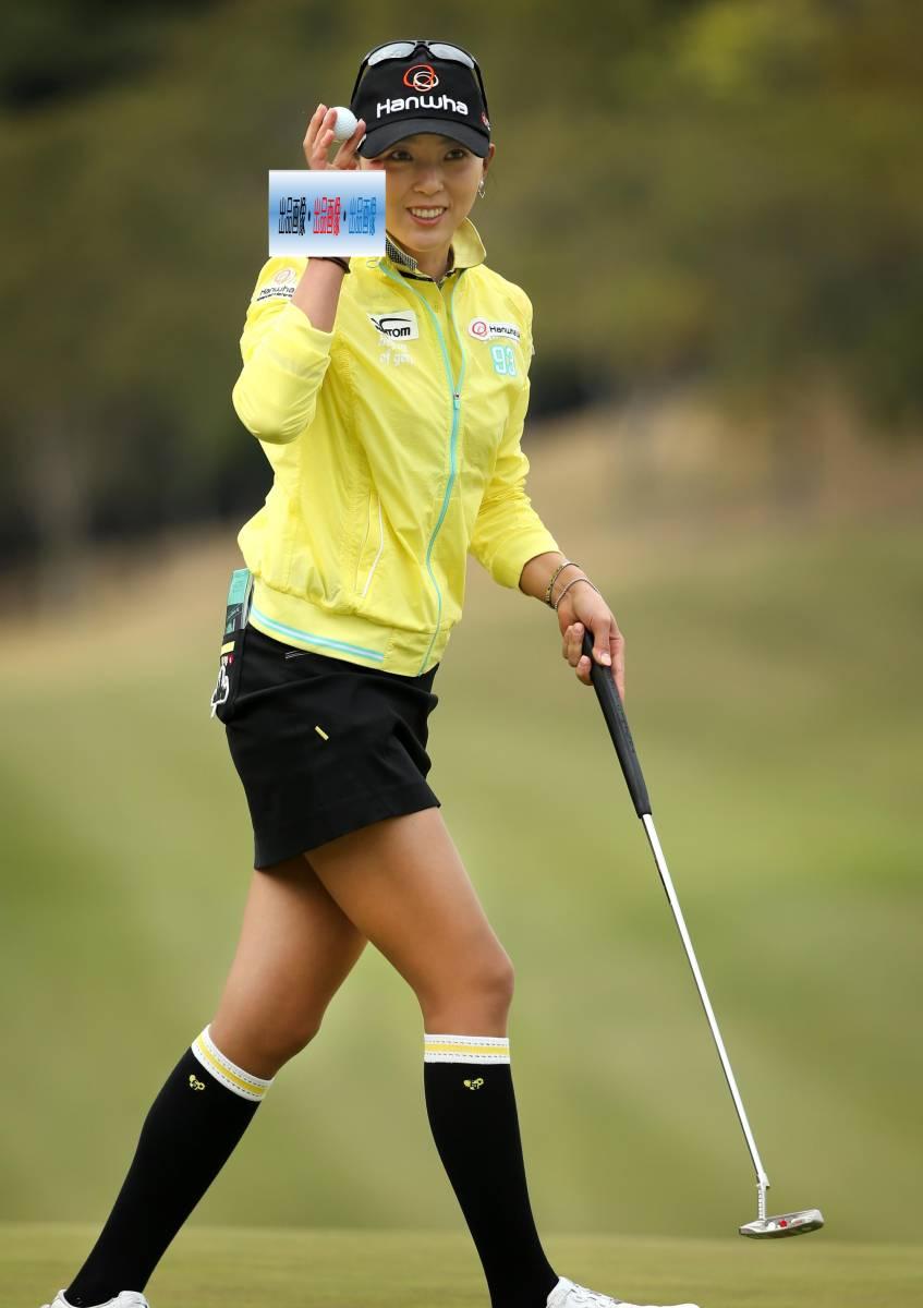 ユン・チェヨン A4判写真1枚 女子ゴルフ ③