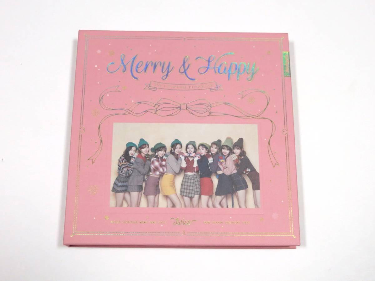 最新CD TWICE/トゥワイス★『Merry & Happy』 韓国盤 CDラベル SANA サナ ver. 未再生