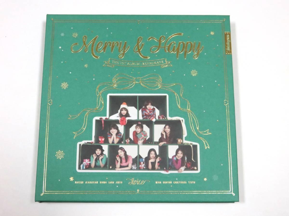 最新CD TWICE/トゥワイス★『Merry & Happy』 韓国盤 CDラベル ミナ Merry ver. 未再生