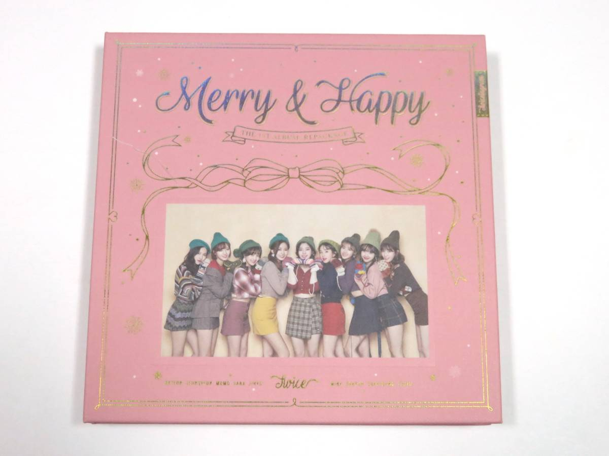 最新CD TWICE/トゥワイス★『Merry & Happy』 韓国盤 CDラベル モモ Happy ver. 未再生