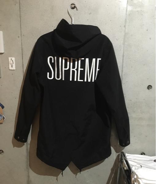 希少 正規品 13ss Supreme Taped Seam Fishtail Jacket Black S シュプリーム フィッシュ
