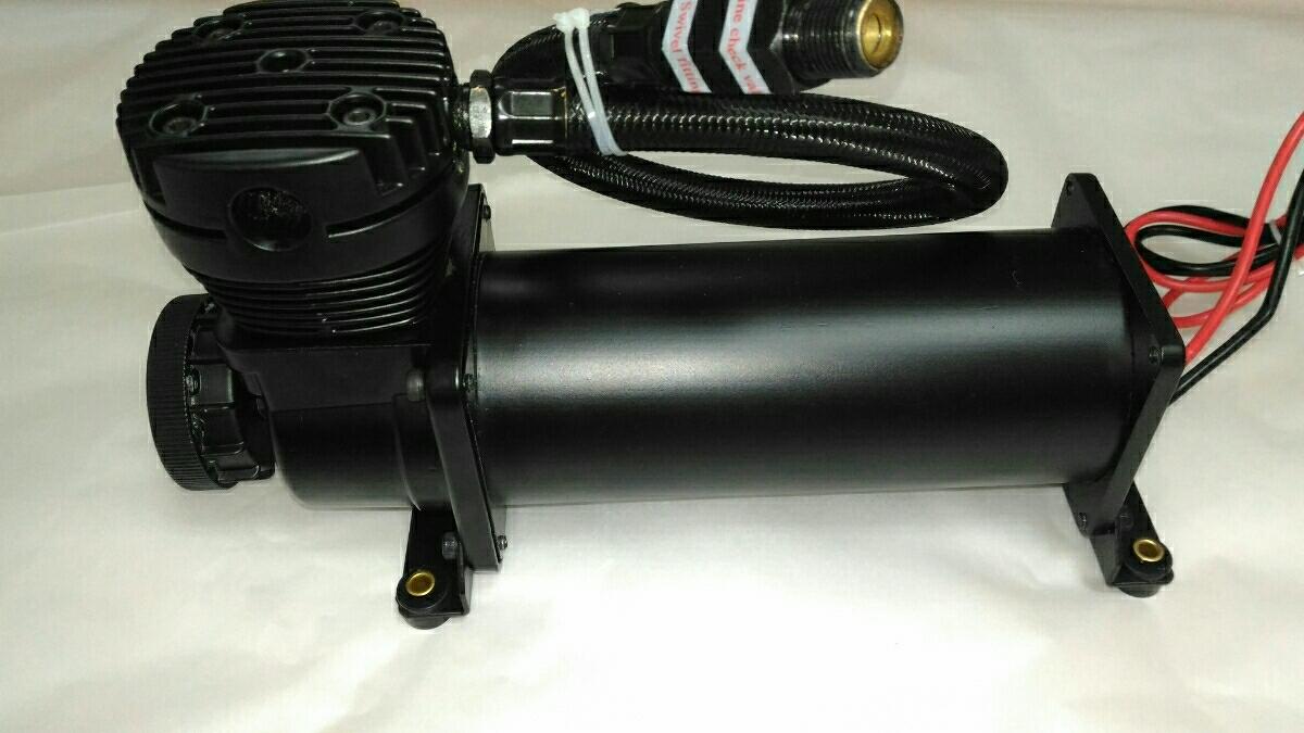 新型 エアサス エアーコンプレッサー ブラック 新品 エアサスコンプレッサー usdm luxury hotrod トラッキン vip 200psi stance