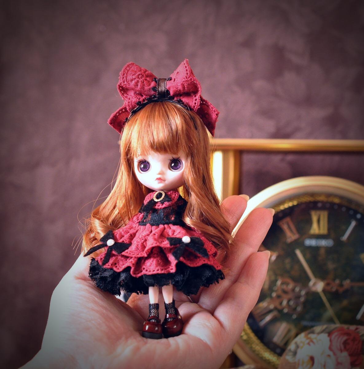 Kanom Lek カスタムプチブライス *Red Rose* custom petiteblythe_画像3