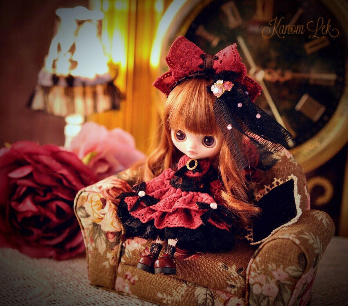 Kanom Lek カスタムプチブライス *Red Rose* custom petiteblythe
