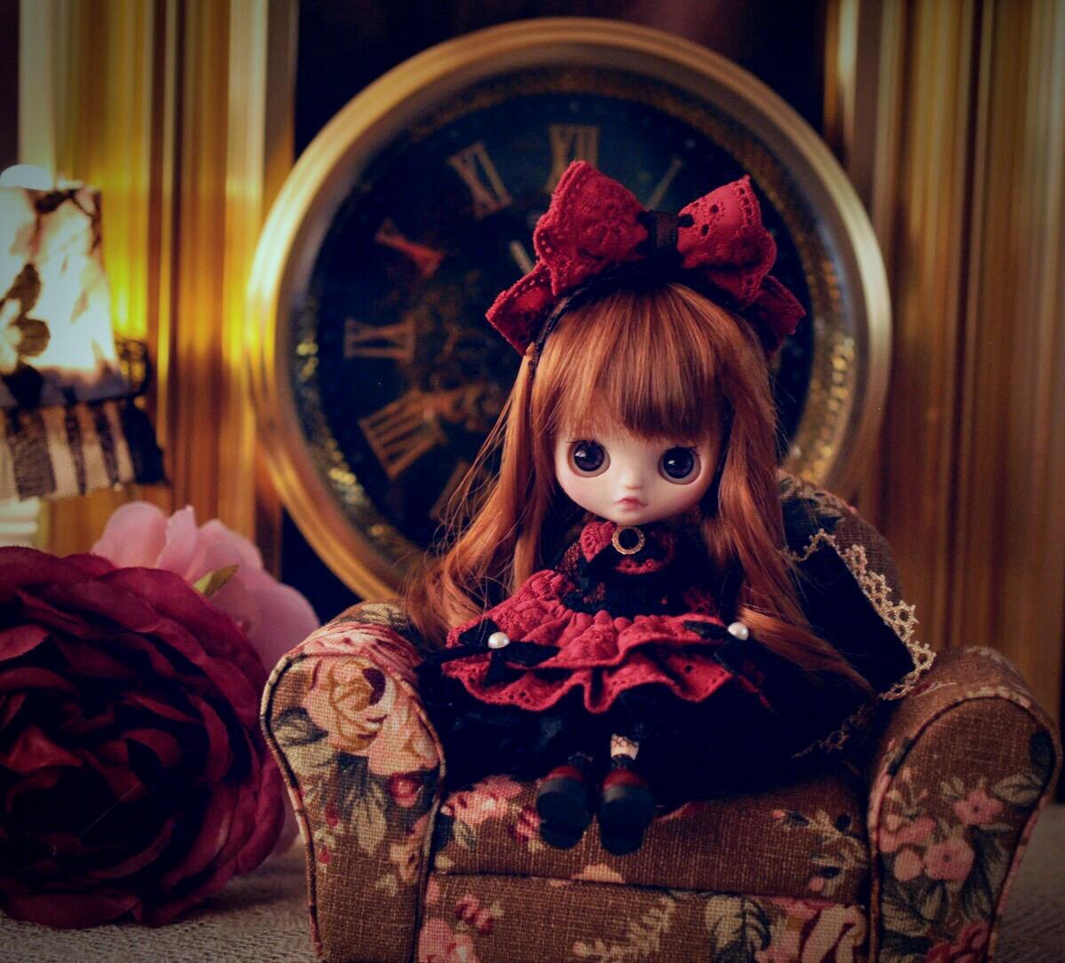 Kanom Lek カスタムプチブライス *Red Rose* custom petiteblythe_画像4