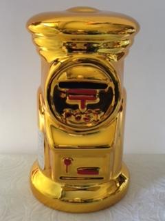 郵便局 郵便ポスト貯金箱★ゴールド・ビッグサイズ★高さ約20㎝★非売品