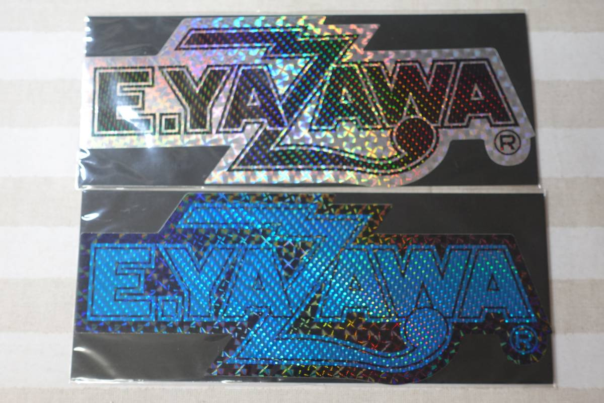 2920矢沢永吉BIGホログラムステッカー(ロゴ)ブラック/ブルー シルバー/ブラック 2枚セット