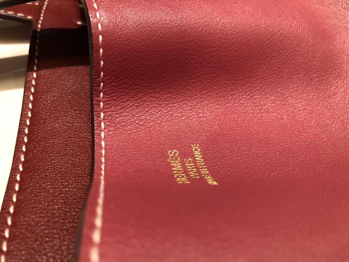 美品 小難有 本物保証 直営店購入 HERMES ドゥブルセンス ローズウッド&ルージュアッシュ 28 リバーシブルトート_画像6