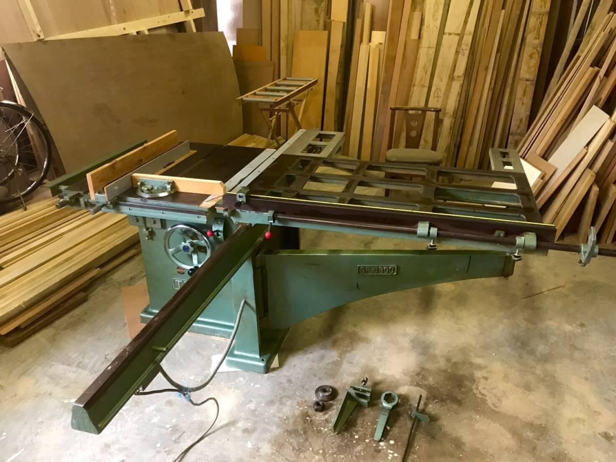 東海製作所 軸傾斜横切り盤 ■現地引取限定■ 木工機械(H×W×D mm):850×2400×2300 大