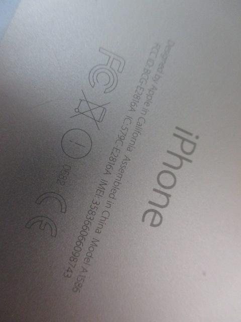 ☆iPhone6☆ゴールド☆A1586☆ジャンク品/DOCOMO_画像3