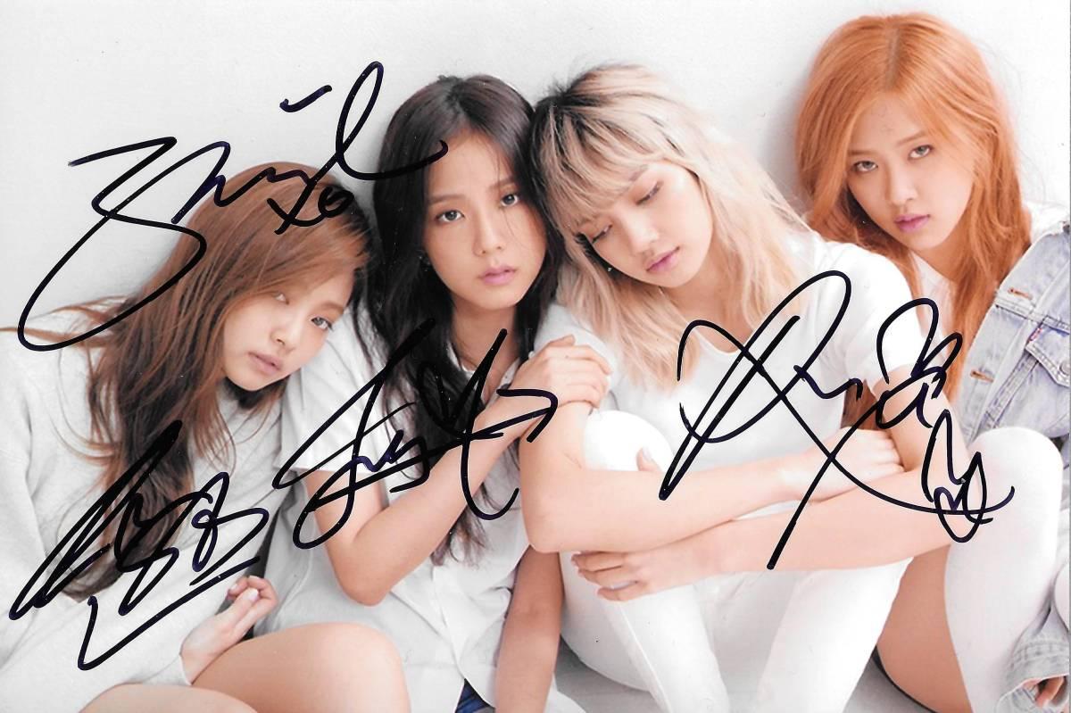 17.10★BLACKPINK★全員直筆サイン入り 宣伝写真 811