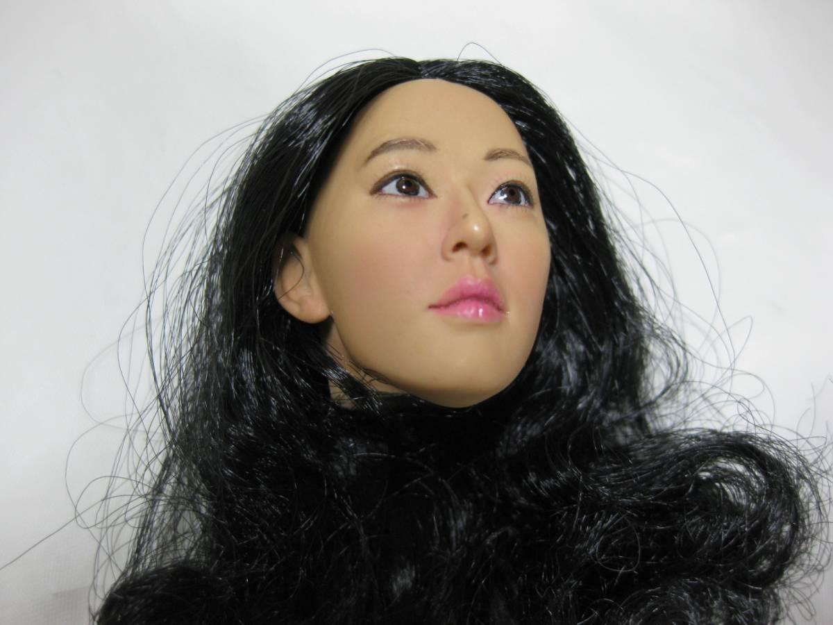 1/6 Kumik アジア系 女性ヘッド 着せ替え人形ドール用