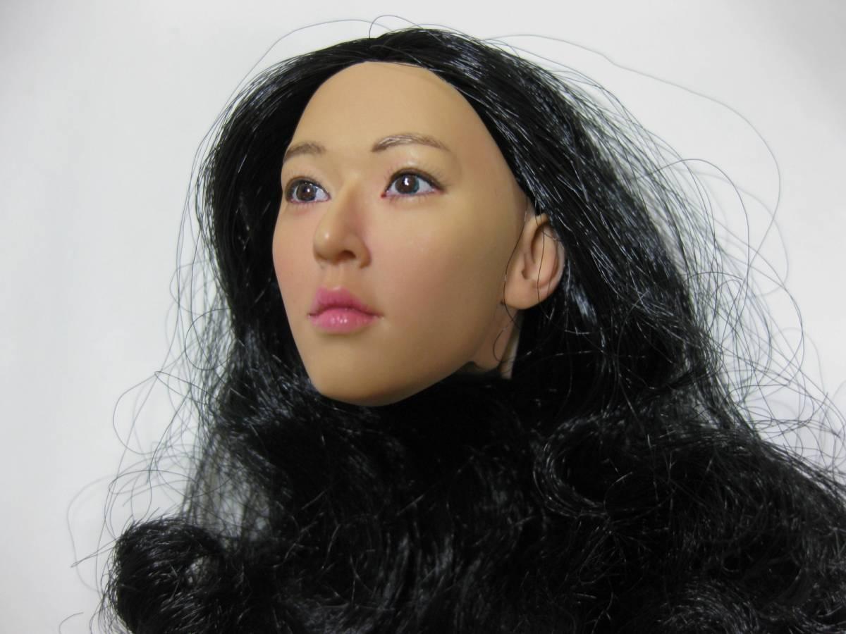 1/6 Kumik アジア系 女性ヘッド 着せ替え人形ドール用_画像2
