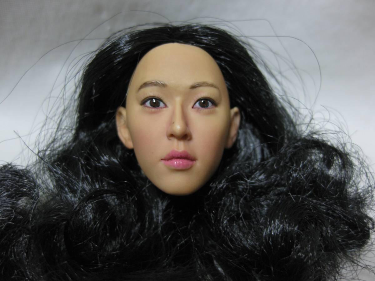 1/6 Kumik アジア系 女性ヘッド 着せ替え人形ドール用_画像3