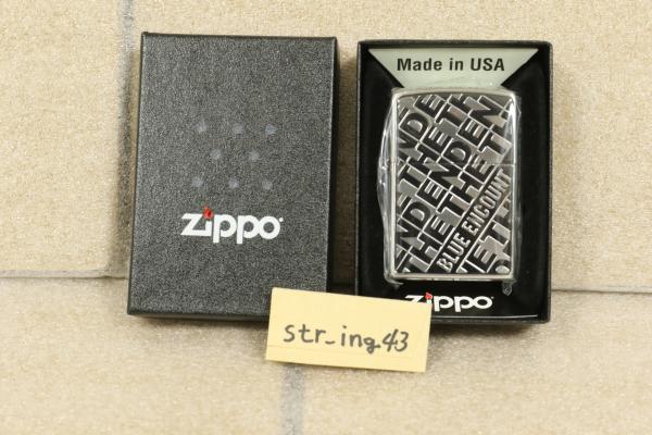 新品 BLUE ENCOUNT Zippo THE END jacket SILVER MIRROR 銀ミラー シリアル【004】 ブルエン グッズ