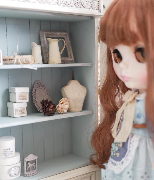 1/6ドール 家具 フレンチキャビネット  /ブライス、momoko、リカちゃん等に_画像4