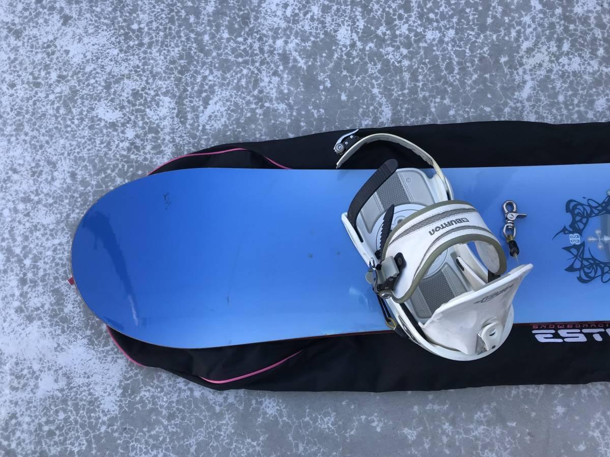 中古 スノーボード バートン BURTON TROOP ビンディング ケース 付き_画像3