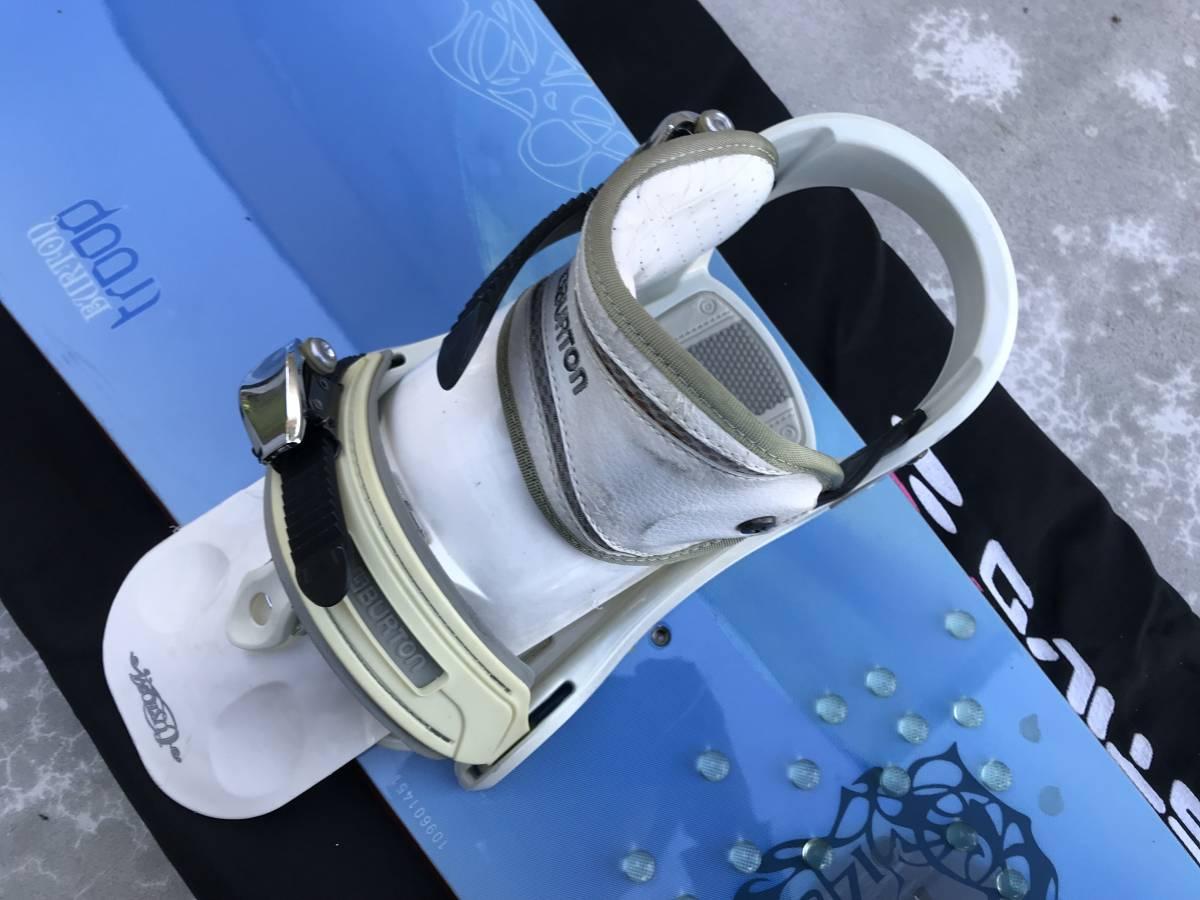 中古 スノーボード バートン BURTON TROOP ビンディング ケース 付き_画像7