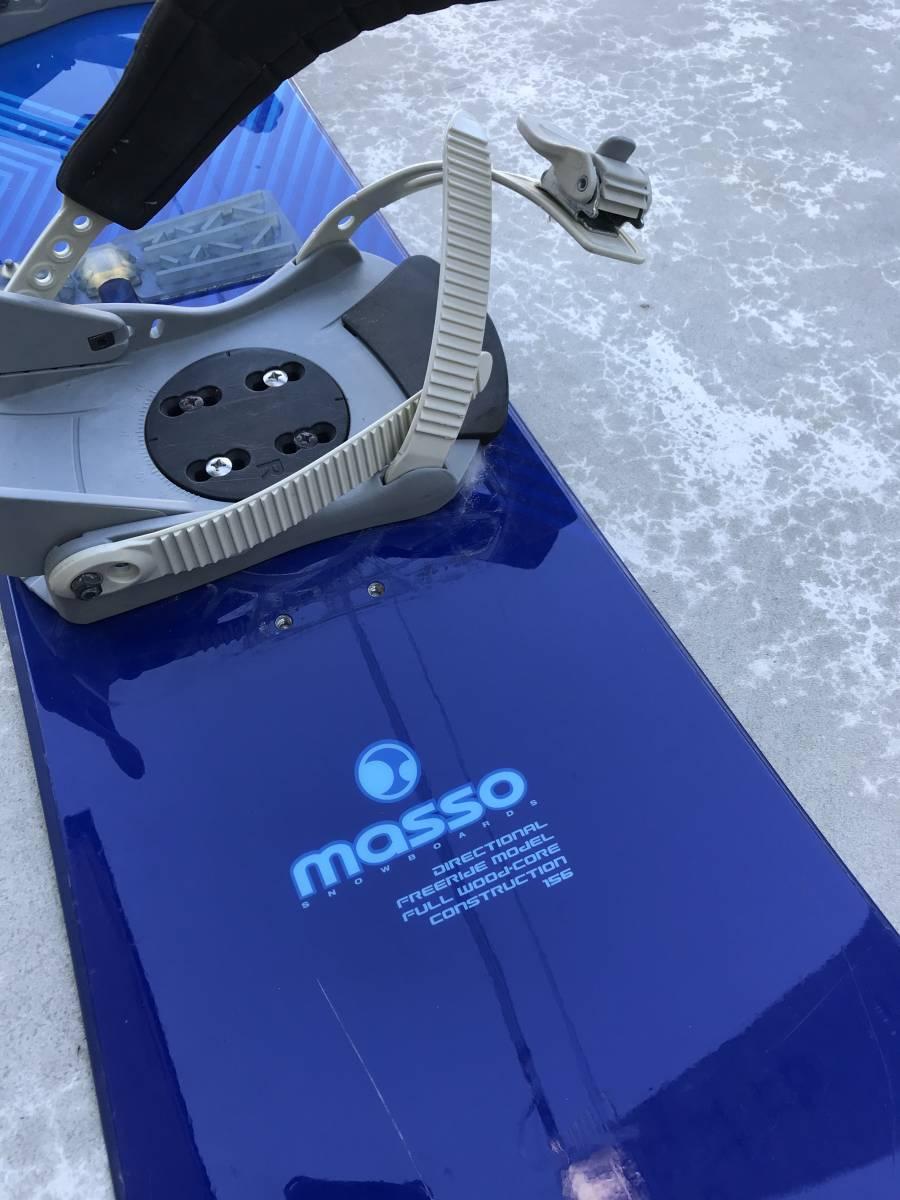 中古 スノーボード MASSO マッソ ビンディング 付き_画像2