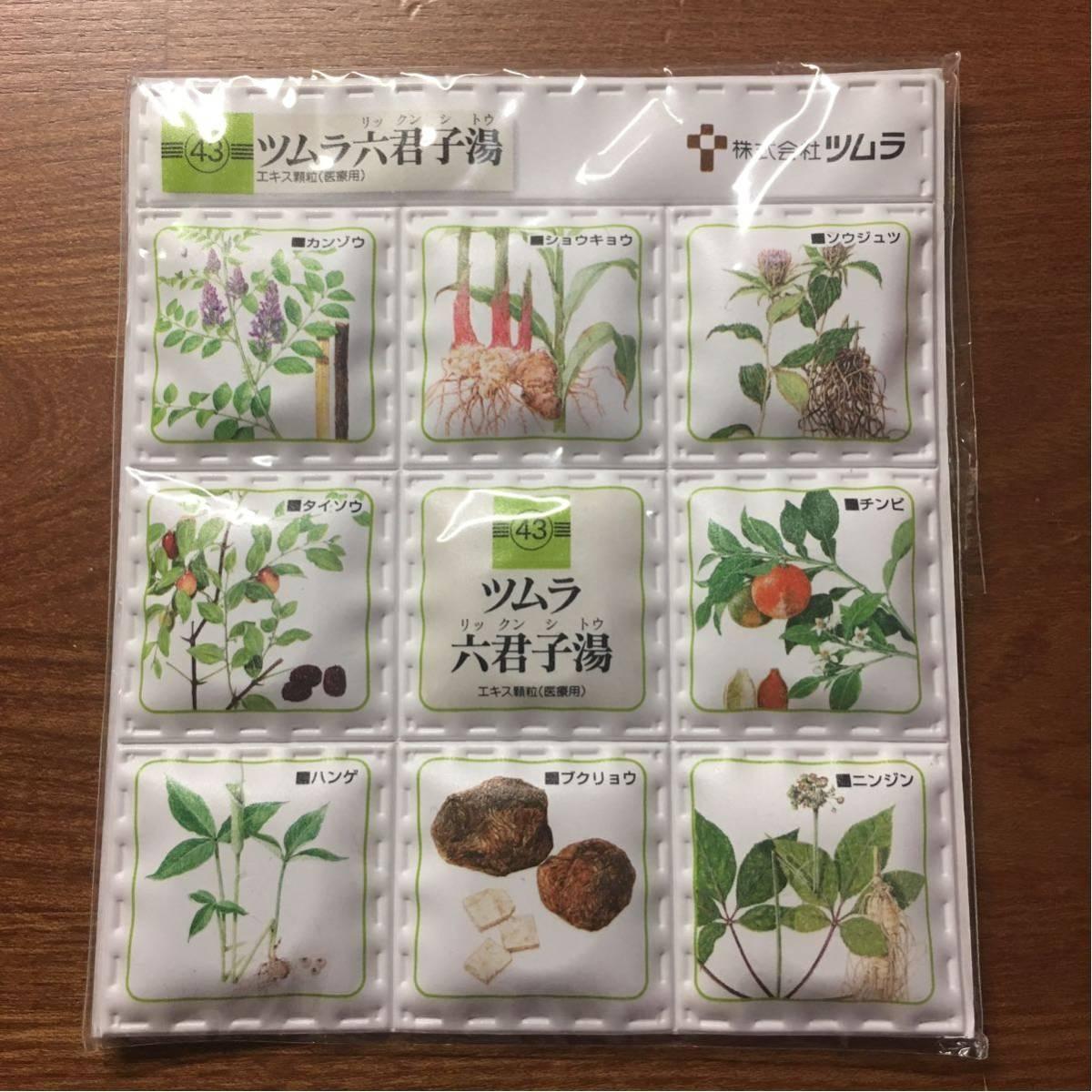 即決 マグネットタイル9ブロック ノベルティー製薬会社ツムラ六君子湯漢方磁石