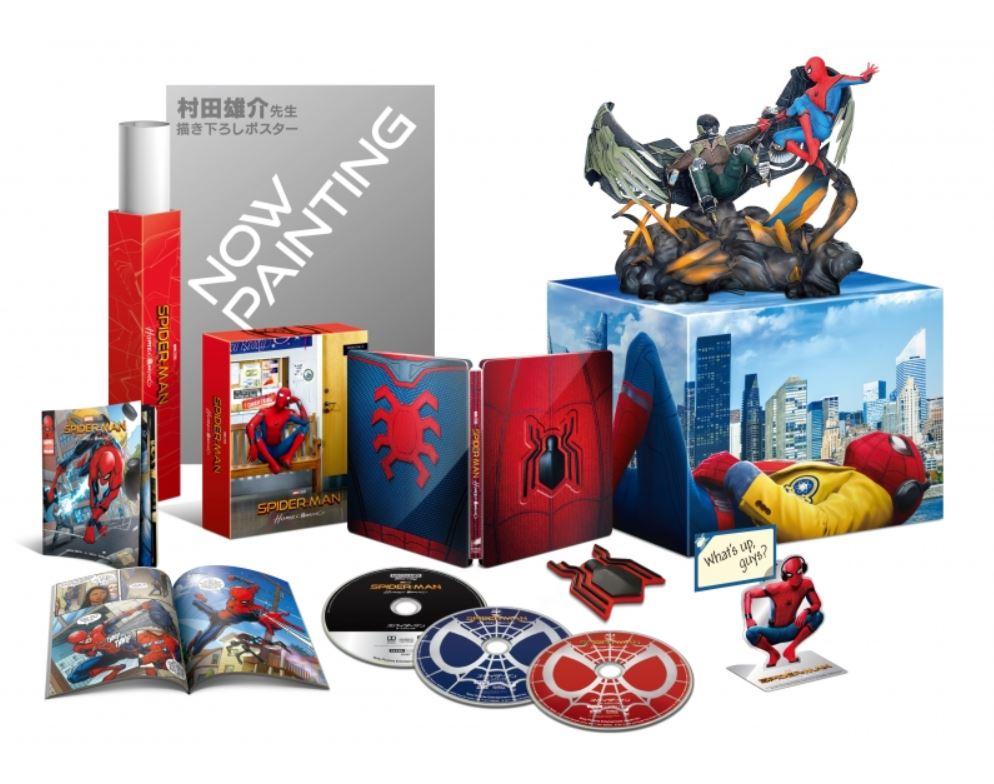未開封新品レア完売スパイダーマンホームカミングプレミアムBOX2D+3D+4K ULTRA HDブルーレイ村田雄介描き下ろし日本限定B3ポスター封入限定_画像1