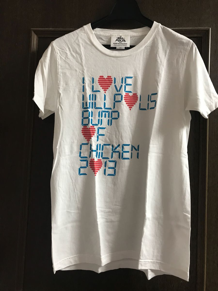 BUMP OF CHICKEN will polis Tシャツ 白 XS