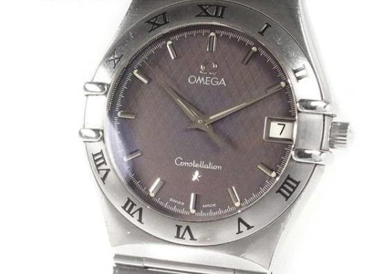 オメガ OMEGA コンステレーション 腕時計 1512.40 Qz 33mm グレー Ω クォーツ デイト 箱は他社製のものをおまけ シルバー おめが
