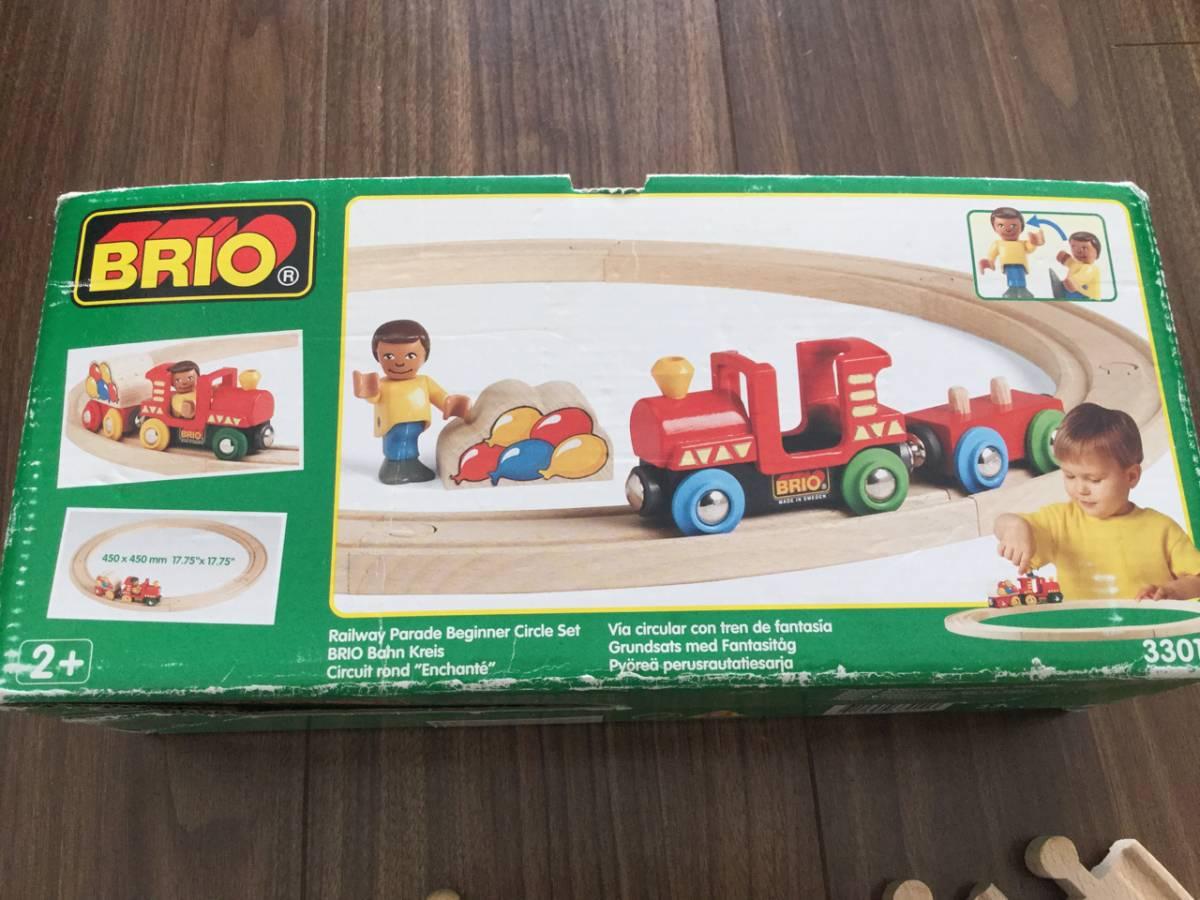 ■新品購入 BRIO レールセット レールウェイ パレード ビギナー サークル セット +トーマスおまけ ブリオ 知育 木製玩具 木のおもちゃ 福袋_画像2