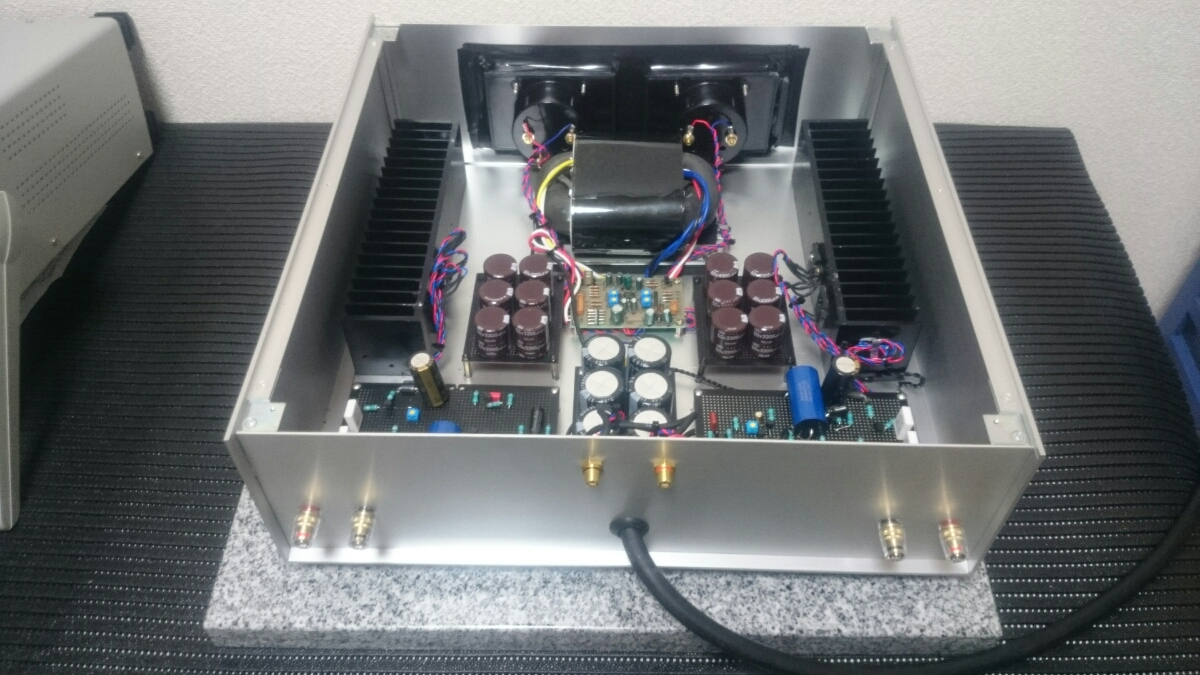 Onejp Japanese Auctions Homebrew Power Amplifier With Vu Meter For Amplifiers It Is An Exhibition Of Amp Since I Have Otherwise Sent Please Refer To Note Currently The Blue Colored Which Installed In