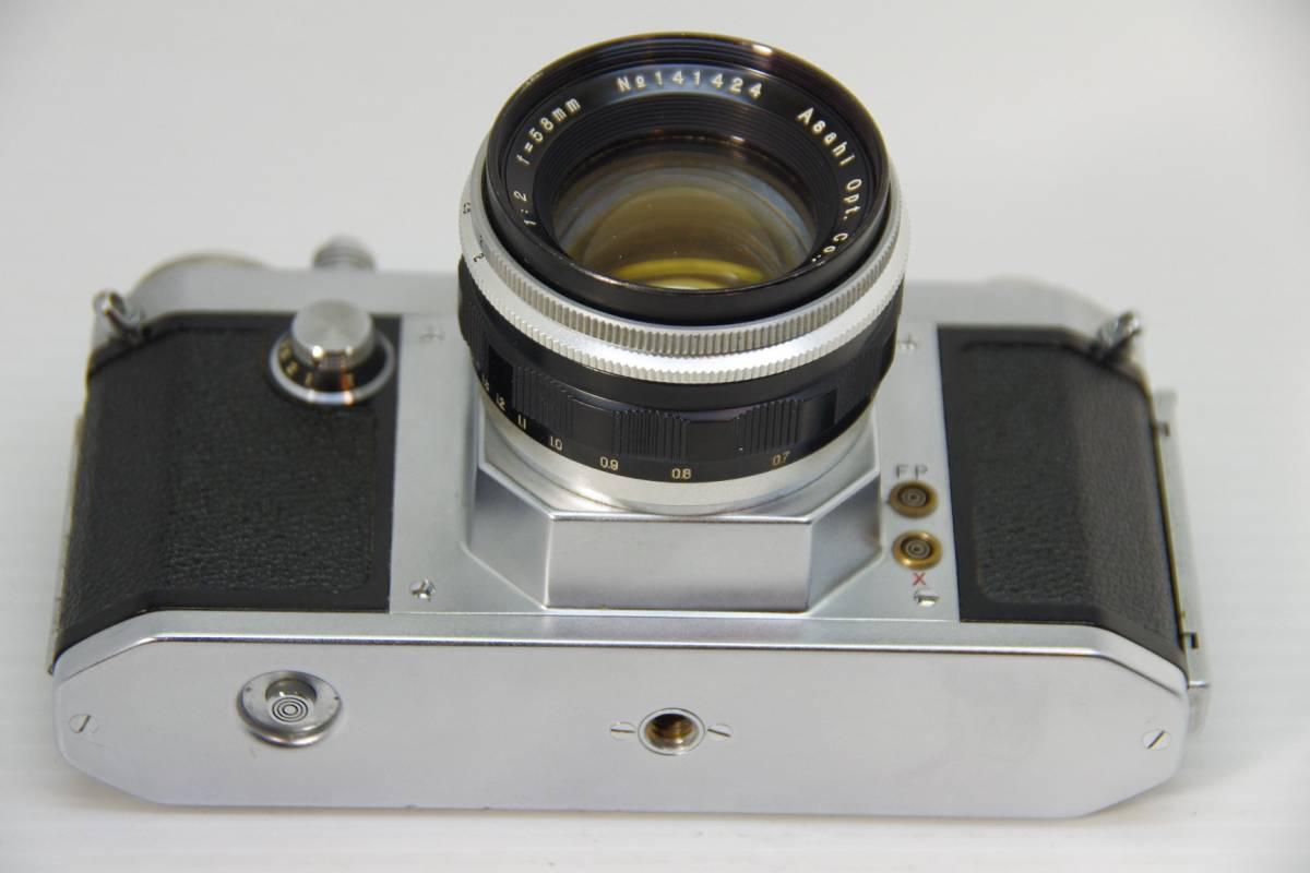 ★ジャンク★旭光学工業 アサヒ ペンタックス 初期モデル AP + Takumar 1:2 f=58mm_画像4