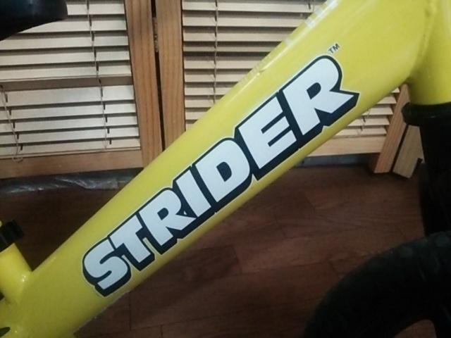 室内保管品 程度良好 ストライダー バランスバイク トレーニング自転車 イエロー 黄色_画像3