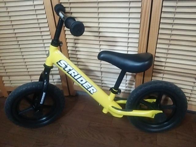 室内保管品 程度良好 ストライダー バランスバイク トレーニング自転車 イエロー 黄色_画像5